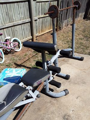 Iron weights amd bench for Sale in DW GDNS, TX