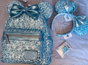 Loungefly Disney Arendelle Mini Backpack, ears and pin set for Sale in Westfield, IN