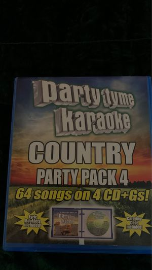 PARTY TYME KARAOKE COUNTRY PARTY PACK 4 for Sale in Norfolk, VA