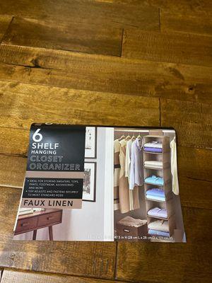6 Shelf hanging Closet Organizer for Sale in Streamwood, IL
