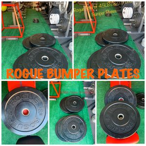 ROGUE Olympic Set of 45 LBS Bumper Plates for Sale in Cleveland, OH