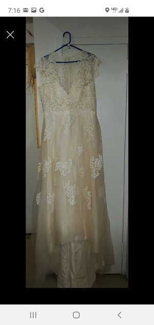 Almond Wedding dress wore only once. 1st. Come/Pay Then Take. Series Buyers only. Pick up only. for Sale in Newark, NJ