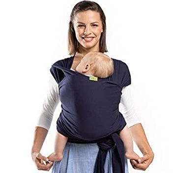 Boba Wrap Baby Carrier Navy Blue, Great For New Born
