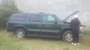 2002 Chevy Suburban 5.3 LT 3000 Miles runs good no issues beautiful truck remote start alarm radio Bluetooth or trade for a turtle top Chevy for Sale in Philadelphia, PA