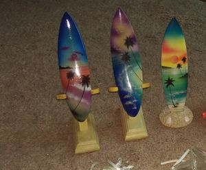 3 NEW surfboard figurines for Sale in Marietta, GA