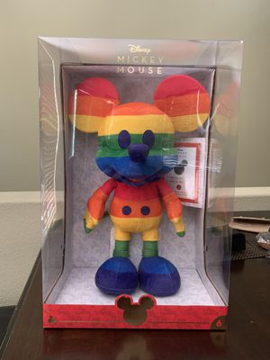Disney Rainbow Mickey Year of The Mouse Plush June Pride Limited Edition New for Sale in Santa Clarita, CA