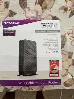 Netgear N600 WIFi cable modem route for Sale in Falls Church, VA