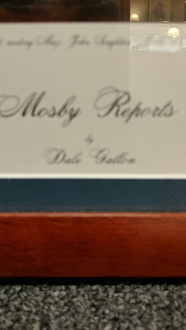 MOSBY REPORTS BY DALE GALLON WITH CERTIFICATE