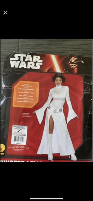 Star war Princess Leia costume dress with wig for Sale in East Hanover, NJ