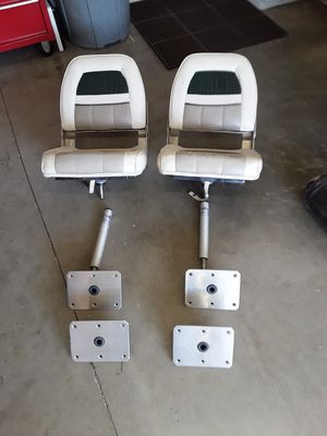 Folding seats and mounting hardware. for Sale in North Highlands, CA
