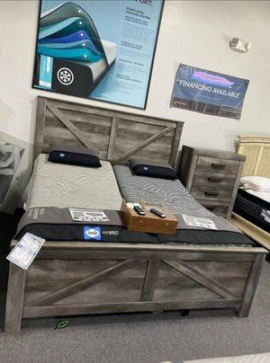 ♨️♨️ Best Offer ♨️Wynnlow Gray Crossbuck Panel Bedroom Set | B440 🙋‍♀️🙋‍♀️🙋‍♀️ for Sale in Jessup, MD
