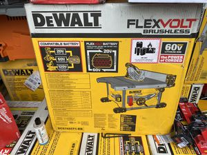 New flexvolt table saw $450 with 60 volt 6 amp battery and charger 10 available for Sale in Tiverton, RI