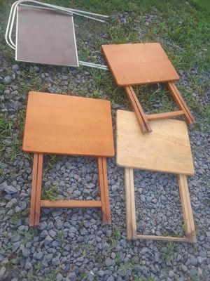 Tv dinner tables for Sale in Linden, PA