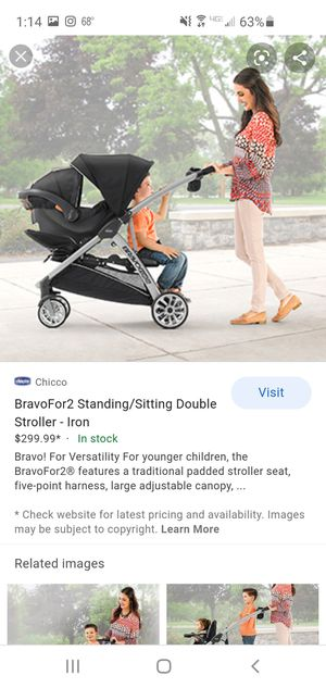 Chicco Bravo for 2 stroller, 2 bases and Keyfit 30 Zip car seat Exp 01/2025 for Sale in Yorba Linda, CA