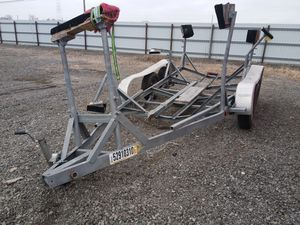 Triple axle boat trailer - salvage title for Sale in Hammond, IN