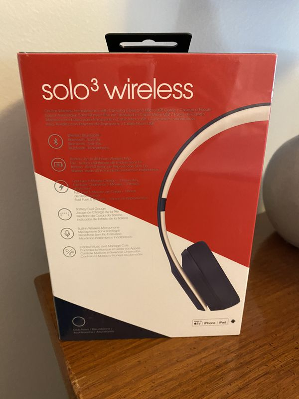 NEVER OPENED - Beats Solo 3 Wireless CLUB Collection Navy Blue