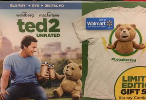 ted 2 blue ray with tshirt for Sale in Atlanta, GA