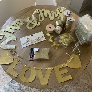 Gold wedding/party decor for Sale in Renton, WA