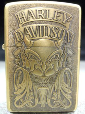 Zippo Harley-Davidson Demon Devil Satan Solid Brass NEW Lighter IX 1993 for Sale in San Fernando, CA