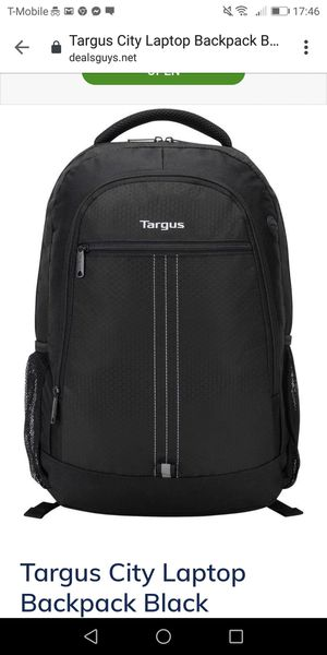 Targus - City Laptop Backpack - Black - new for Sale in Naperville, IL