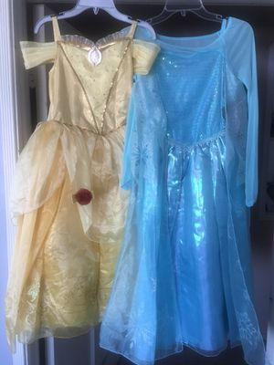 Disney Belle & Elsa dresses sz 9/10 (NWT) $20/each for Sale in Long Beach, CA