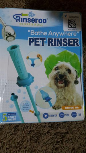 Rinseroo: Slip-on, No-Install, Dog Wash Hose Attachment. Pet Bather for Showerhead and Sink. Handheld Shower Sprayer/Rinser. for Sale in Palmdale, CA