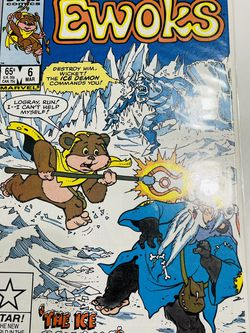STAR WARS 1985 Ewoks #6 Comics Book Star Comics Marvel Logray The Ice Demon for Sale in Waco,  TX