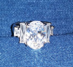 Sterling silver cubic zirconia ring for Sale in San Jose, CA