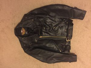 Harley Davidson Classic Leather Motorcycle Jacket for Sale in Houston, TX
