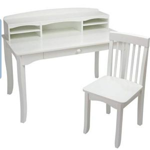 KidKraft Avalon Desk with Hutch and Chair - White for Sale in Columbus, OH