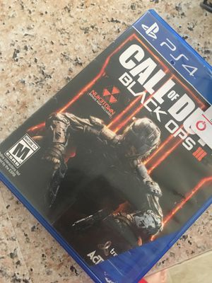 Black Ops 3 ps4 and wired ps4 headset for Sale in Crewe, VA