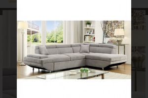 GREY SECTIONAL SOFA WITH PULL OUT SLEEPER for Sale in San Bernardino, CA