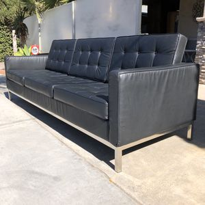 Chrome Black Modern Couch Sofa 3 Seats for Sale in San Diego, CA