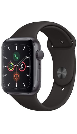 Apple Watch Series 5 (GPS, 44mm) - Space Gray Aluminum Case with Black Sport Band for Sale in Cranston, RI