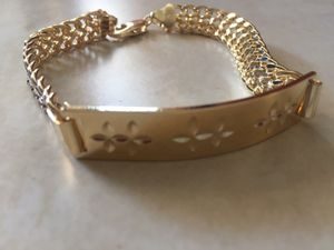 MENS BRACELET 8.5INCH 18K GOLD FILLED for Sale in Las Vegas, NV