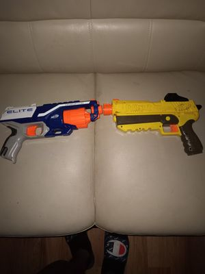 Two lil nerf guns without bullets for Sale in Windsor Hills, CA