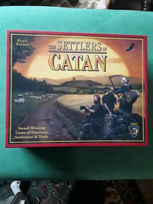 New Settlers of Catan Open box but never used Board Game for Sale in Lynnwood, WA