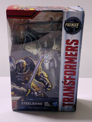 Hasbro Transformers The Last Knight Steelbane Premiere Edition Deluxe Class for Sale in Los Angeles, CA