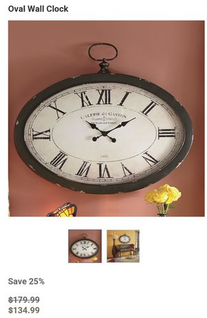 Antique oval wall clock for Sale in Dunlap, TN