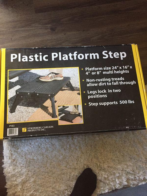 RV Platform Step by Stromberg Carlson