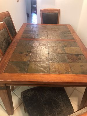Very Heavy Kitchen Table With Six Chairs for Sale in San Jacinto, CA