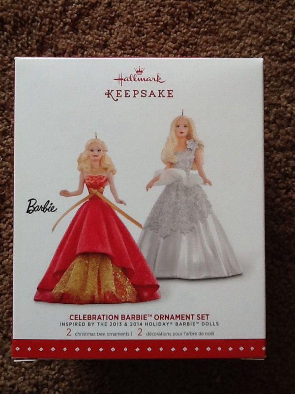 Celebration Barbie ornament set