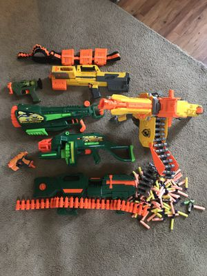 Nerf guns and bullets for Sale in Tracy, CA