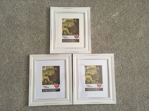 Three White Picture Frames 8x10-5x7 for Sale in Bothell, WA