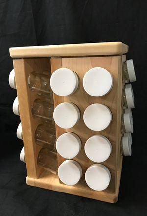 J. K. Adams 8 inch by-11-1/2 inch Sugar Maple Wood Spice Jar Carousel for Sale in Tustin, CA