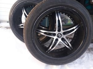20 inch rims and tires for Sale in Billings, MT