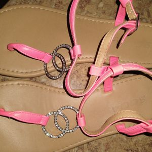 Sparkley Neon Peach Sandles for Sale in Beaverton, OR