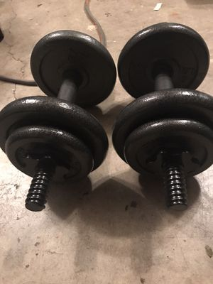 20 lb iron adjustable dumbbell pair for Sale in Federal Way, WA