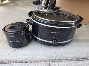 Hamilton Beach 5 QT. Crock Pot + 2 Cup Warmer for Sale in Danville, CA