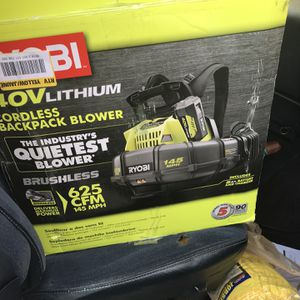 145 MPH 625 CFM 40-Volt Lithium-Ion Cordless Backpack Blower, Two 5.0 Ah Batteries and Charger Included for Sale in Stonecrest, GA